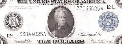 Rare San Francisco Type A 1914 $10 Federal Reserve Note