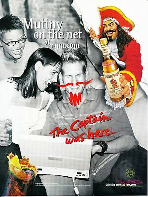 Print Ad~2000~Captain Morgan~Mutiny on the Net~Advertisement~H700