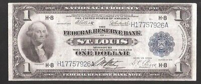 Rare St. Louis 1918 Green Eagle Large Federal Reserve Note