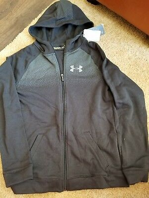 boys youth xl under armour zip up hoodie