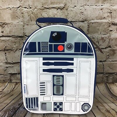 Disney Star Wars R2-D2 Thermos Brand 11.5 Inch Tall Soft Insulated Lunch Bag