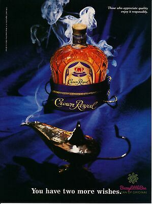 Print Ad~1995~Crown Royal~Genie~Wishes~Advertisement~H700