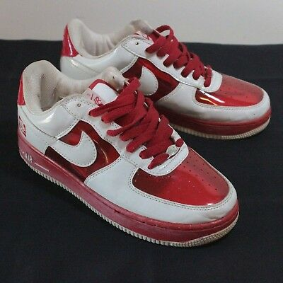 NIKE AIR FORCE 1 Invisible Premium | White Clear Red Sz