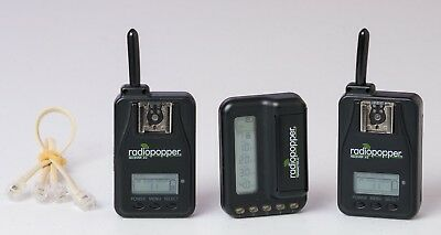 RadioPopper Jr2 transmitter x1 and receiver x2 set wireless flash triggering