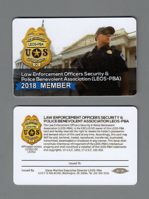 2018 Member Law Enforcement Officers Security - Pba Card