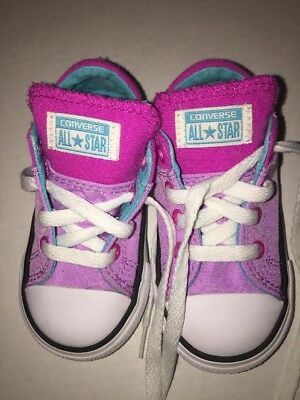 Converse All Star Purple Pink Chuck Taylor Toddler Shoe Size 6 Free Ship