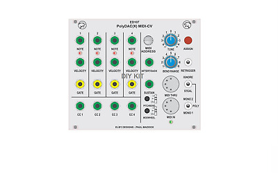 POLYEND POLY: POLYPHONIC MIDI to CV converter in Eurorack modular