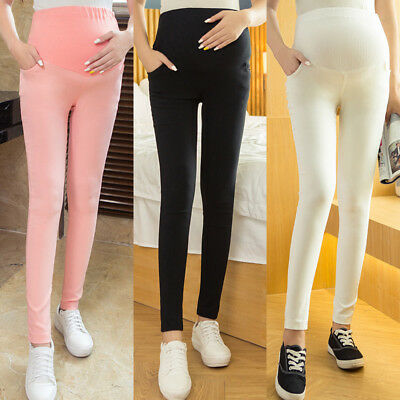 4 Colors Plus Size Maternity Clothing Spring Elastic Care Belly Long Trousers