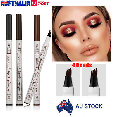 Eyebrow Tattoo Pen Waterproof Fork Tip Microblading Waterproof Makeup Sketch U0