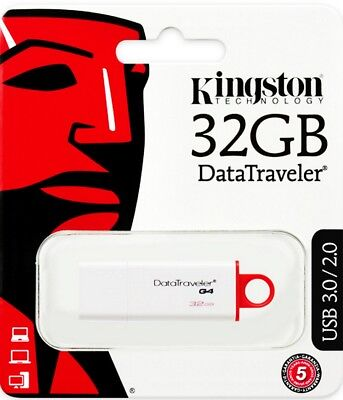 Clé 32 Go Gb USB Stick 3.0 32GB Kingston DataTraveler G4 DTIG4 32Gb 32Go