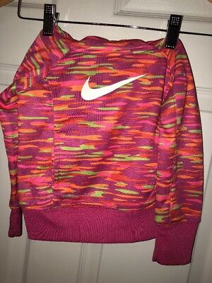 Girls Nike Thermafit Multicolored Pullover Hoodie Size 2T New