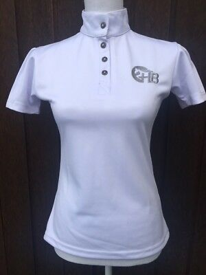Ladies White Competition Shirt Horse Riding Show Shirt