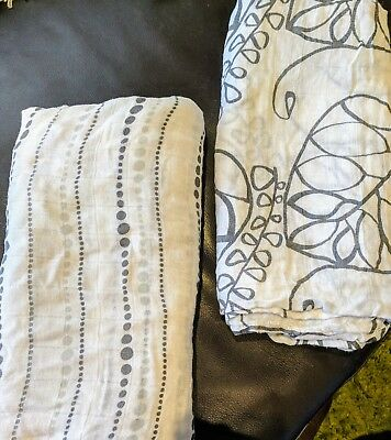 2 * Aden and anais silky soft bamboo swaddles