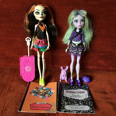 Monster High Dolls Doll - Skelita & Twyla - Acc. Inc. - Pre-Owned - Great Cond.