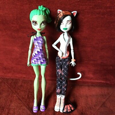 Monster High Dolls Doll - Scarah Screams & Lizard Girl - Pre-Owned Great Cond.
