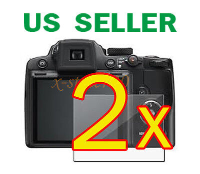 2x Nikon Coolpix P500 Camera Clear LCD Screen Protector Guard Cover Film