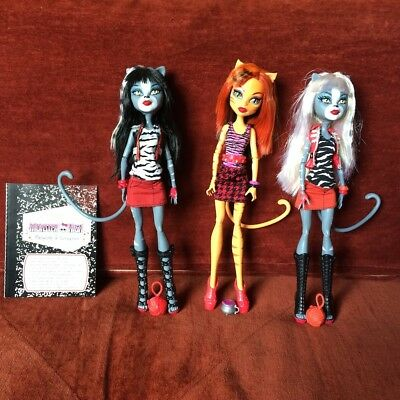 Monster High Dolls - Toralei, Meowlody & Purrsephone - Pre-Owned Great Cond.