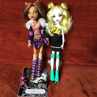 Monster High Dolls - Lagoona Blue & Clawdeen Plus Acc. - Pre-Owned Great Cond.