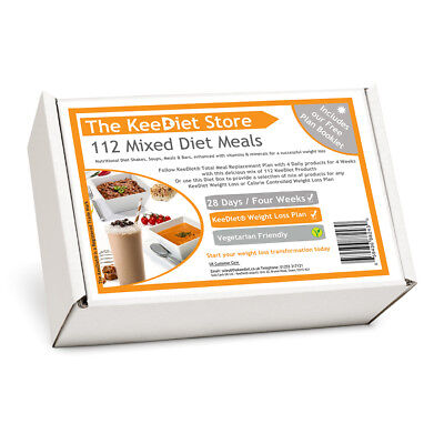 KeeDiet® VLCD - ITV Fast Fix 4 Week Plan Diet Box 112 Meal Replacement Products