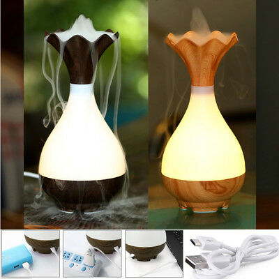 USB Air Humidifier Essential Oil Diffuser Aroma Lamp Aromatherapy Electric Vase