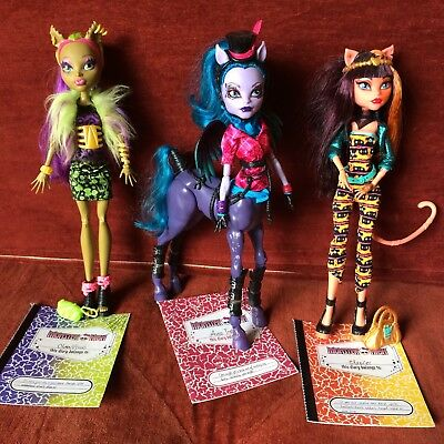 Monster High Dolls - Avea Trotter, Cleolei & Clawvenus - Pre-Owned Great Cond.