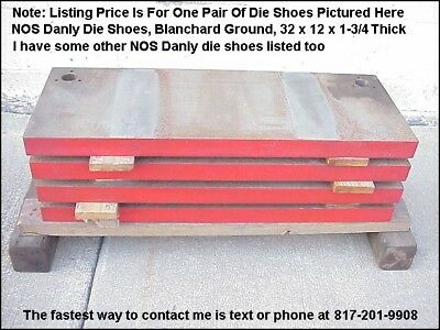 NOS Danly Die Set Shoes, Punch Press 2 Post Progressive Stamping Die Shoes, Pair