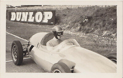 Original Photo of Driver in old cockpit racing car photo B&W 138 x 83mm approx