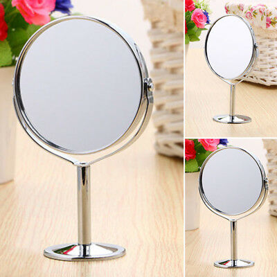 Desk Free Standing Portable Cosmetic Makeup Double-Sided Magnifying Mirror