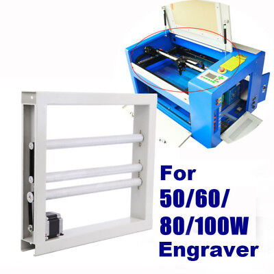White Regular Laser Rotary Axis For 60W-100W CO2 Laser Engraving Machine