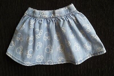 Baby clothes GIRL 0-3m Disney Minnie Mouse,cute denim-look cotton skirt SEE SHOP