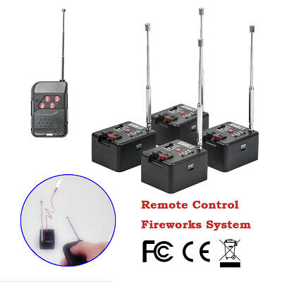 4 Cue Remote Wireless Fireworks Firing System Four Fire Modes wedding equipment