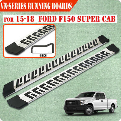 """Fit 15-18 Ford F150 Super Cab 6""""Running Board Nerf Bar Side Step Stainless Steel"""