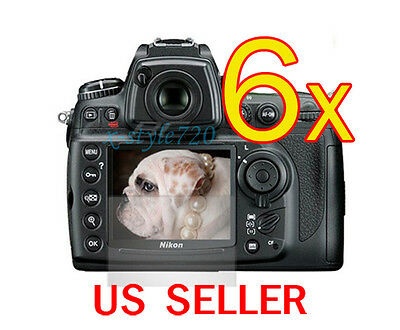 6x Clear LCD Screen Protector Guard Film For Nikon DSLR D7000 Camera