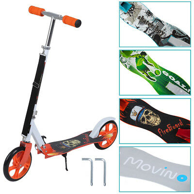 205 mm Big Wheel Cityroller Kinderroller Alu Scooter Roller Tretroller Aluminium