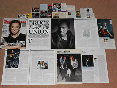 20+ BRUCE SPRINGSTEEN Magazine Clippings