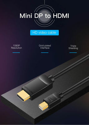 1.8M Mini DisplayPort DP to HDMI Cable Display Port For Microsoft Surface Pro