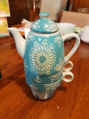 T2 Teapot - Tea for Two - blue and white