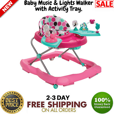 56d8a7086eb4 DISNEY MINNIE MOUSE Dotty Music Lights Activity Tray Baby Walker 3 ...