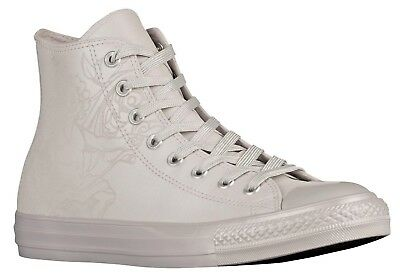 a52a9d22221 Converse All Star Hi Top Leather Shoes Pure Silver Chuck Taylor Men s size  12