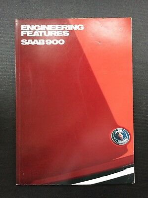 1989 Saab 900 Engineering Features Brochure 93 Pages Free Shipping