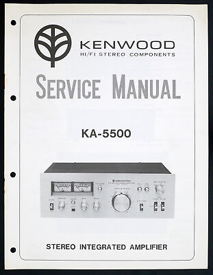 Kenwood KA-5500 Original Integrated Amplifier/Amplifier Service Manual O136