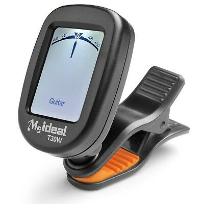 Guitar Tuner Clip on Rotatable Tuning Digital Chromatic Musical Instrument LCD
