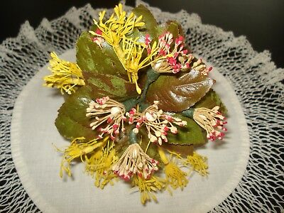 Vintage Millinery Flowers Wedding Flower Girl Nosegay Bouquet Corsage Japan Old