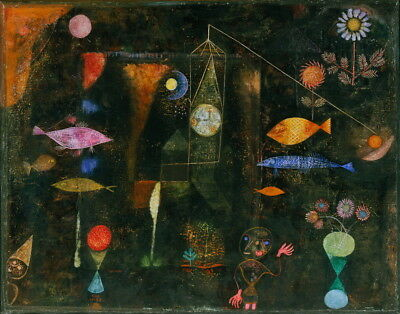 Paul Klee Fish Magic Giclee Canvas Print Painting Poster Reproduction LARGE SIZE