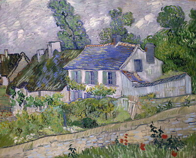 Vincent Van Gogh House at Auvers Giclee Canvas Print Paintings Poster LARGE SIZE
