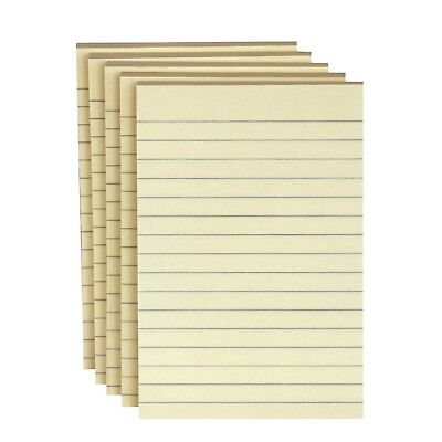 5 PK School Smart Lined Self Stick Adhesive Note 4 X 6 In Yellow 100 Sheets Pad
