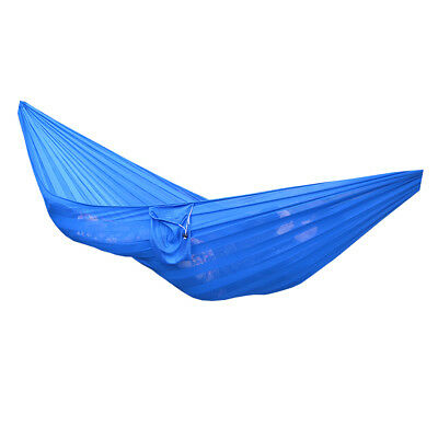 Camping Travel Outdoor Hanging Hammock Bed Sleeping Swing Tree Strap Blue