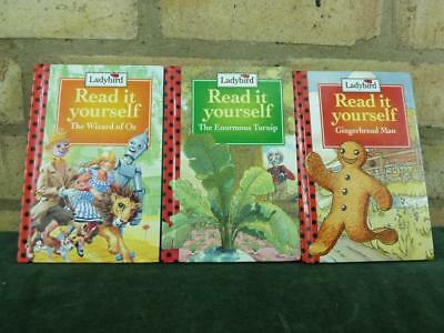 3 Vintage Ladybird book 90's read it yourself Gingerbread Man , The Enormous Tur