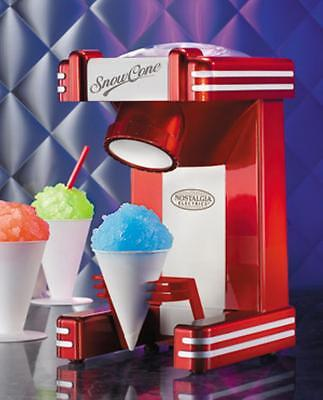 Shave Ice Machine Snow Cone Maker Electric Shaver Retro Counter Top Cold Drink