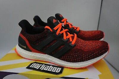 96c6ba037de ADIDAS ULTRA BOOST 2.0 Solar Red Power Core Black Gradient Running ...